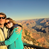 Sunrise, 12 hours of driving, 2 hours of sleep. Grand Canyon, baby!