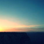 Sunset over the canyon