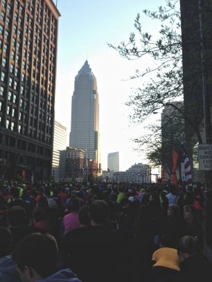 The start of the marathon.