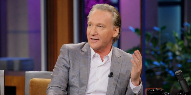 THE TONIGHT SHOW WITH JAY LENO -- Episode 4520 -- Pictured: Comedian Bill Maher during an interview on September 3, 2013 -- (Photo by: Paul Drinkwater/NBC/NBCU Photo Bank via Getty Images)