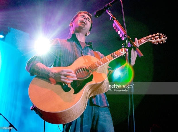 Chris Carrabba of Dashboard Confessional performs as part of the 'Honda Civic Tour 2004' at the San Jose State University Event Center on June 3, 2004 in San Jose, California. June 03, 2004 Photo by Tim Mosenfelder/Getty Images